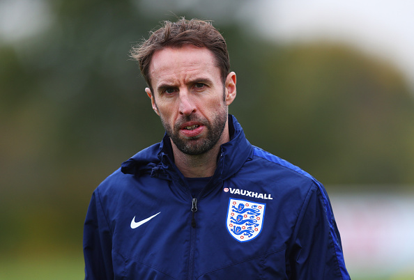 ENFIELD, ENGLAND - NOVEMBER 14:  Gareth Southgate interim manager of England looks on during an England training session on the eve of their international friendly match against Spain at Tottenham Hotspur Training Centre on November 14, 2016 in Enfield, England.  (Photo by Clive Rose/Getty Images)