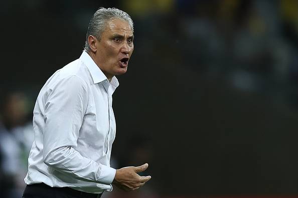 BELO HORIZONTE, BRAZIL - NOVEMBER 10: Head coach Tite of Brazil reacts during a match between Brazil and Argentina as part of 2018 FIFA World Cup Russia Qualifier at Mineirao stadium on November 10, 2016 in Belo Horizonte, Brazil. (Photo by Buda Mendes/Getty Images)