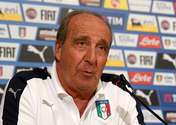 FLORENCE, ITALY - NOVEMBER 07:  Italian national team head coach Giampiero Ventura speaks to the media during a press conference at the club's training ground at Coverciano on November 7, 2016 in Florence, Italy.  (Photo by Claudio Villa/Getty Images)