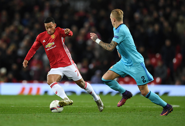 during the UEFA Europa League Group A match between Manchester United FC and Feyenoord at Old Trafford on November 24, 2016 in Manchester, England.