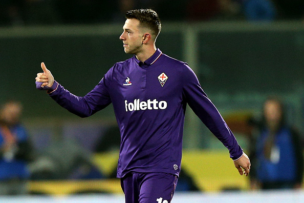 FLORENCE, ITALY - DECEMBER 22: Federico Bernardeschi of ACF Fiorentina celebrates after scoring a goal during the Serie A match between ACF Fiorentina and SSC Napoli at Stadio Artemio Franchi on December 22, 2016 in Florence, Italy. (Photo by Gabriele Maltinti/Getty Images)
