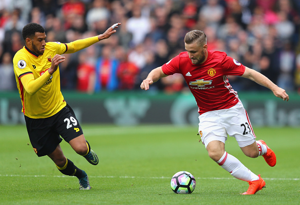 during the Premier League match between Watford and Manchester United at Vicarage Road on September 18, 2016 in Watford, England.